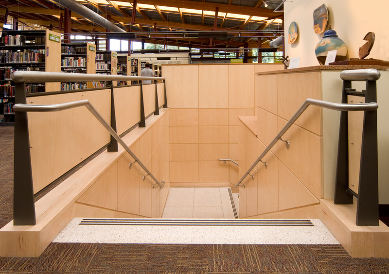 Public space library millwork