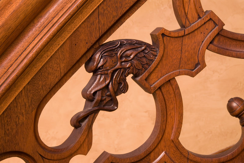 Hand carved woodworking, Montana, luxury homes