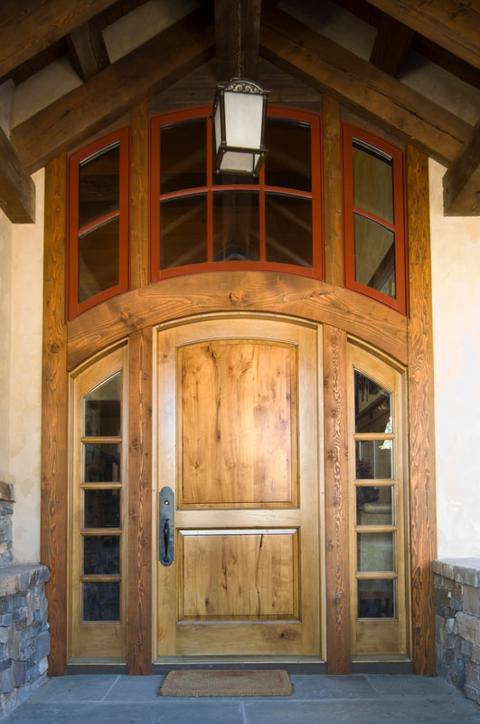 Arched Entry Door with Relights, Custom Doors, Made to match, residential architecture